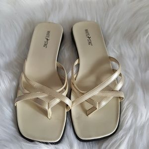 Shoes - BRAND NEW Classic Ivory Colored Sandals